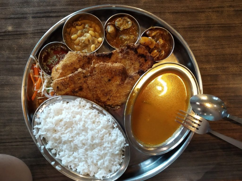 The Fish Thali at Le Jardin Mapusa